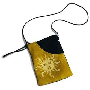 Vintage Sunshine Adjustable Strap Bag Wiccan Boho